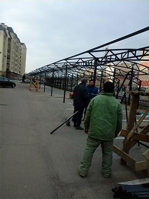 Изготовление и монтаж укрывных навесов для автомобилей - Компания Ремстрой | +7 (495) 740-81-83